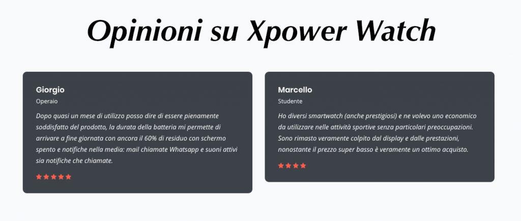 Opinioni Xpower Watch
