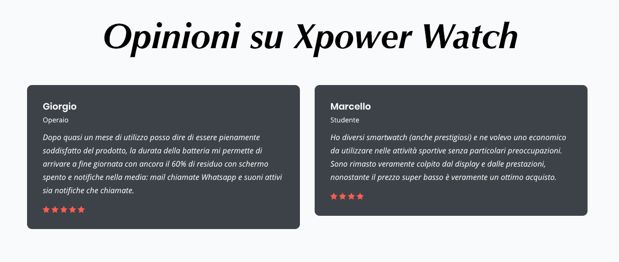 xPower Watch opinoni